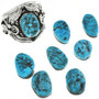 Sterling Silver Kingman Turquoise Ring 23077