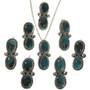 Bisbee Turquoise Navajo Pendants 28656