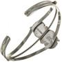 Sterling Twist Wire Turquoise Bracelet 23296