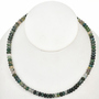 4mm by 6mm Moss Agate Rondel Beads 16 inch Strand