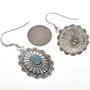 Navajo Turquoise Concho Earrings 28934