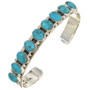 Turquoise Row Silver Cuff Bracelet 25654