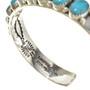 Navajo Silver Turquoise Row Bracelet 25654