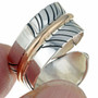 Gold Silver Feather Ring 23198