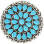 Genuine Turquoise Old Pawn Style Pendant Brooch 28809