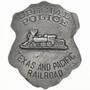Texas Pacific Railroad Police Badge 29196