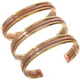 Southwest Two Tone Cuff Bracelet 29396