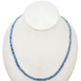 Blue Glass Beads 16 inch Strand