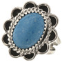 Denim Lapis Silver Ladies Ring 28610