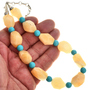 Navajo Chunky Calcite Turquoise Necklace 29455