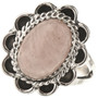 Pink Quartz silver Ladies Ring 28611