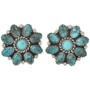 Turquoise Cluster Post Earrings 29086