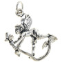 Sterling Silver Fairy with Flower Charm Bracelet Pendant Necklace