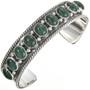 Malachite Silver Row Bracelet 29124