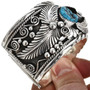 Turquoise Sterling Mens Cuff Bracelet 24967