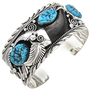 Navajo Turquoise Bear Claw Bracelet 24967
