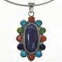 Navajo Gemstone Sterling Necklace Set 29180