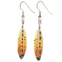 Hand Painted Feather Dangle Earrings 29496