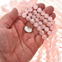 12mm Rose Quartz Glass Beads 16 inch Strand 1