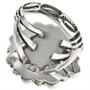 Navajo Hammered Sterling Silver Ring 29084