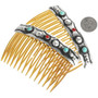 Turquoise Coral Southwest Hair Combs 23584
