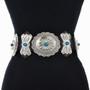 Rock n Roll Turquoise Silver Concho Belt 15880
