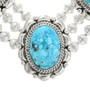 Hand Made Sterling Silver Turquoise Western Necklace 15314