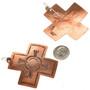 Navajo French Hook Copper Earrings 22319