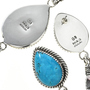 Turquoise Silver Y Necklace 27559