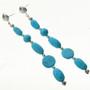 Turquoise Post Dangle Earrings 28400