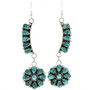Turquoise Cluster Dangle Earrings 29748