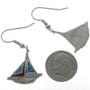 Inlaid Sailboat Ladies Teens Earrings 23916