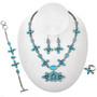 Genuine Blue Turquoise Necklace Set 11516