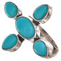 Blue Turquoise Sterling Ring 11516