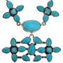 Turquoise Silver Y Necklace 11516