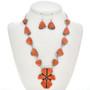 Coral Navajo Link Necklace Set 29701