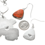 Sterling Apple Coral Jewelry Set 29701