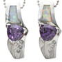 Opal Purple Gem Affordable Jewelry 17090