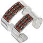Southwest Coral Silver Jewelry 14110