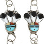 turquoise Shell Inlaid Zuni Necklace 13549