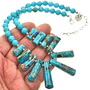 Navajo Necklace with Silver Spacers 28705