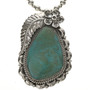 Native American Genuine Turquoise Pendant 28535