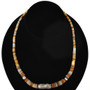 Navajo Gold Lip Shell Heishi Necklace 22052