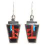 Inlaid Zuni Style Dangle Earrings 29567