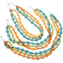 Native American Beaded Gemstone Necklace 22743