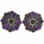 Amethyst Onyx Navajo Cluster Earrings 28872