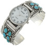 Turquoise Cluster Navajo Watch Cuff 24527