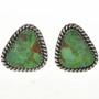 Green Turquoise Stud Earrings 28963