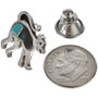 Native American Turquoise Silver Tie Tack 15381