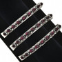 Native American Garnet Silver Row Cuff 29232